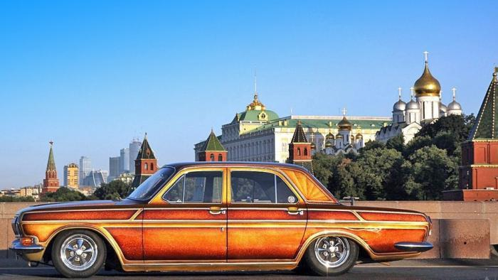 Лоурайдер «Golden Rose» на базе ГАЗ-24 (25 фото)