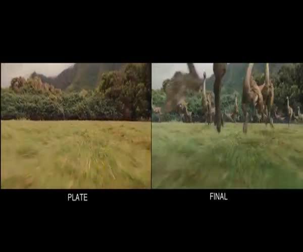 «Мир Юрского периода» со спецэффектами и без них