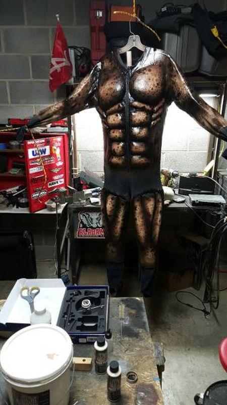 Фототчет о создании костюма Хищника (32 фото)
