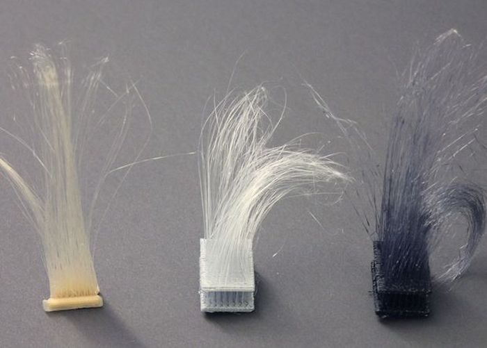 Американцы «научили» 3D-принтер печатать волосы (4 фото)