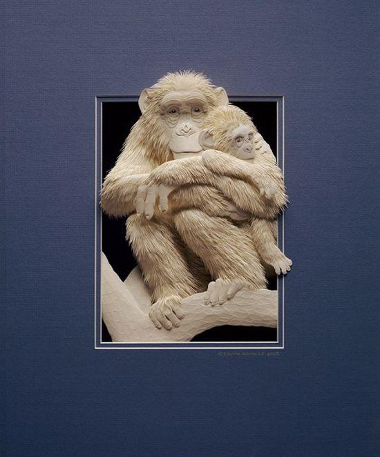 Великолепные бумажные животные Кэлвина Николлса (34 фото)