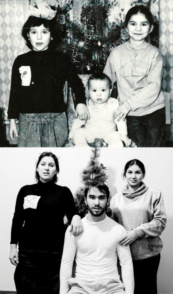 Новые фото на старый лад, как оригинальный подарок на День рождения (12 фото)