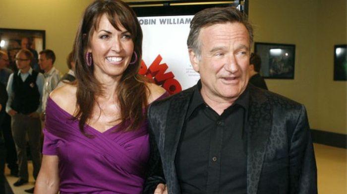 Вдова Робина Уильямса Сьюзан Шнайдер рассказала о страшной болезни мужа (3 фото)