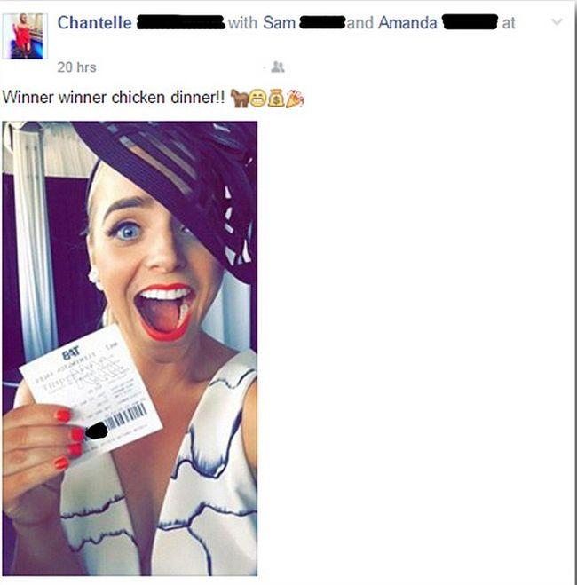 Австралийка лишилась выигрыша, опубликовав селфи с выигрышным билетом в соцсети (фото)
