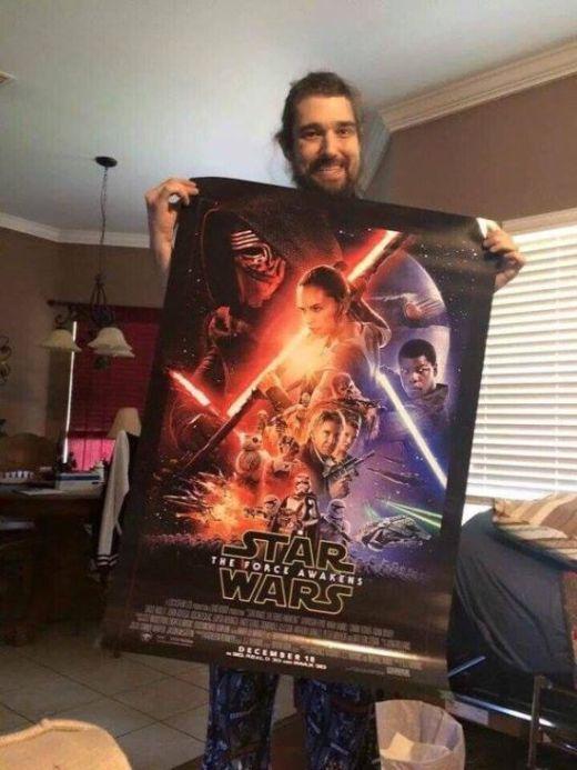 Неизлечимо больного американца пригласили на закрытый показ нового фильма «Звездные войны» (3 фото)