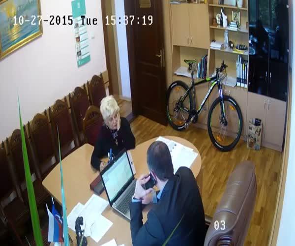Общественница украла ручку у чиновника