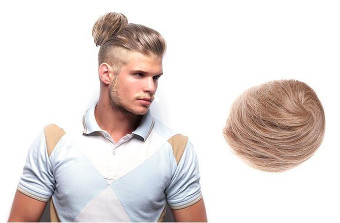 Мужские накладные пучки волос - новый аксессуар для тех, кто хочет быть в тренде (3 фото)