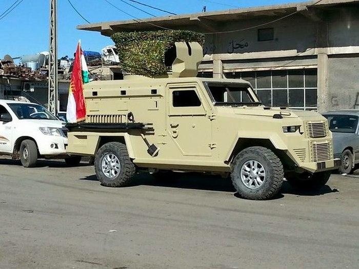 Самодельный броневик курдского ополчения (8 фото)
