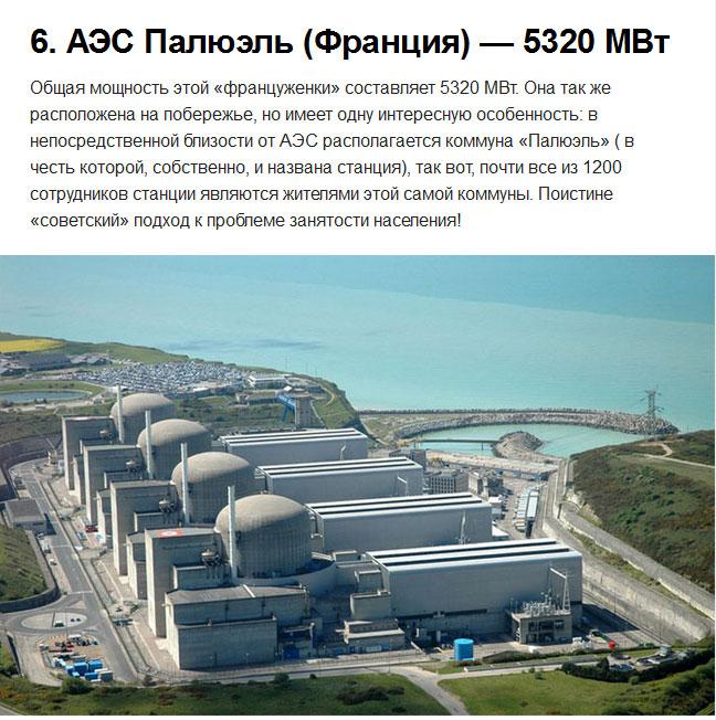 Самые мощные атомные электростанции в мире (10 фото)