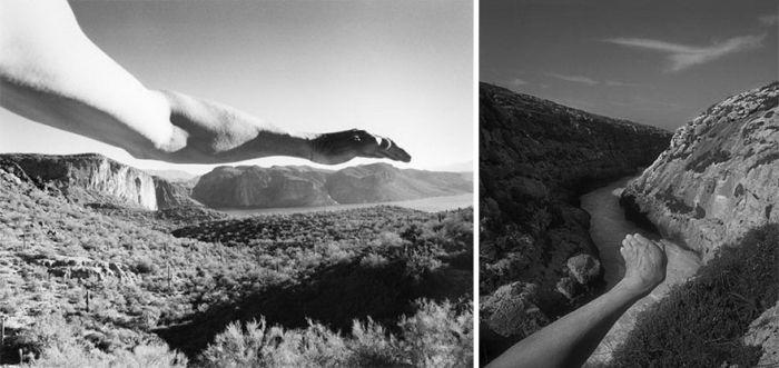 Сюрреалистические фотографии Арно Минккинена, демонстрирующие близость человека и природы (17 фото)