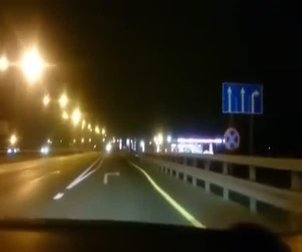 Жуткая подстава на Новорязанском шоссе в Москве