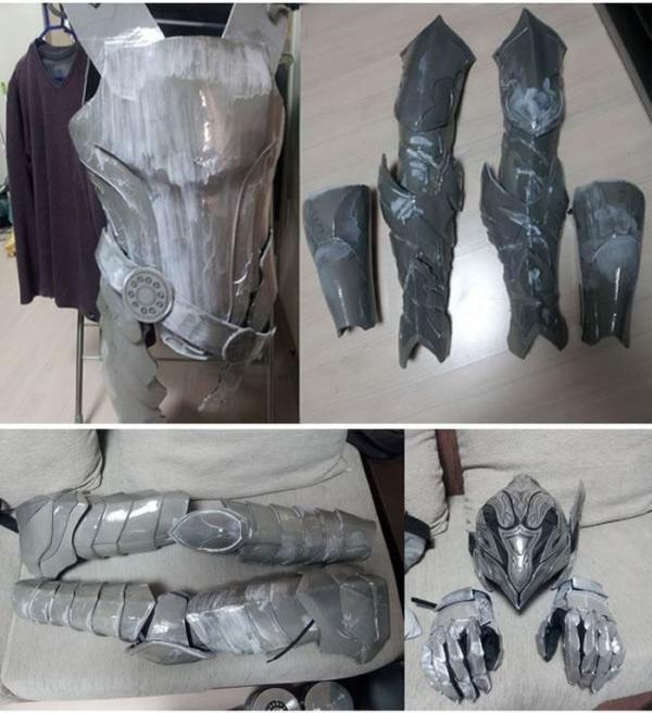 Фотоотчет о создании костюма героя игры Dark Soul Artorias Artorias of the Abyss (23 фото)