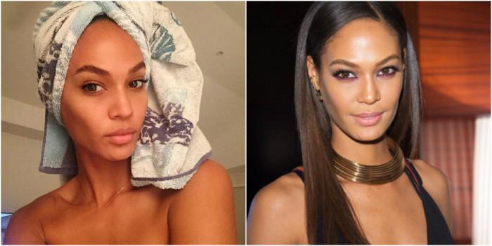 Прекрасные модели Victoria's Secret с макияжем и без (23 фото)