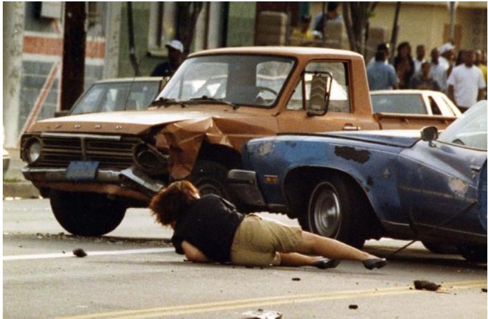 Первая в мире «цветная» революция, Лос-Анджелес, 1992 год (31 фото)
