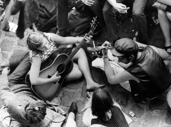 Париж в 50-х - 60-х годах XX века (21 фото)