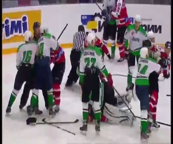 Массовая драка на матче «Донбасс» - «Рапид»