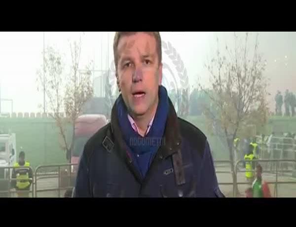 Боснийские болельщики и репортер