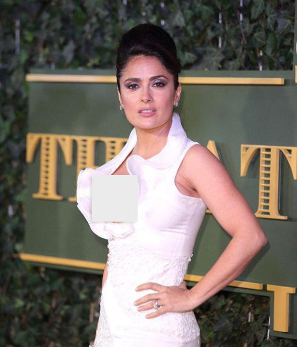 Сальма Хайек в откровенном платье на церемонии London Evening Standard Theatre Awards (7 фото)