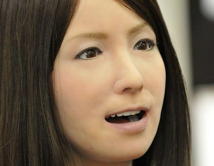Çin geliştirilmiş kadın Robot Geminoid F'yi tanıttı (4 fotoğraf)