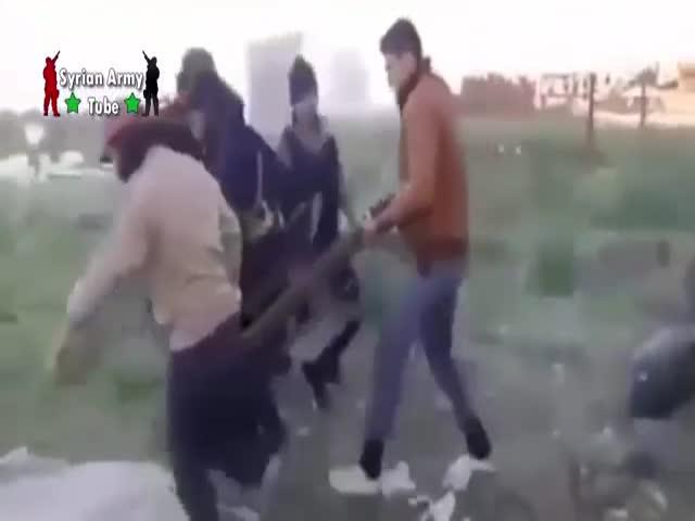 Сирийские боевики пострадали от разрыва самодельного миномета