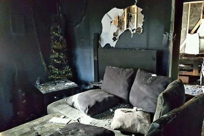 Ховерборд уничтожал дом американской семьи (5 фото + видео)