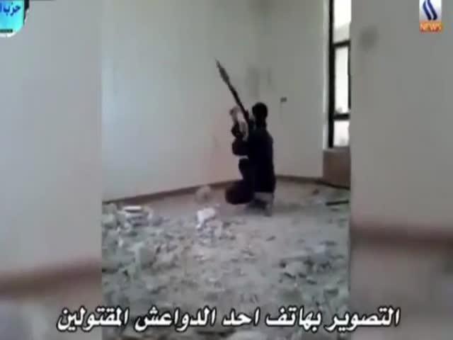 Террорист ИГИЛ продемонстрировал, как не стоит обращаться с РПГ