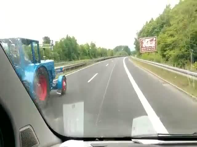 Необычный обгон на автобане