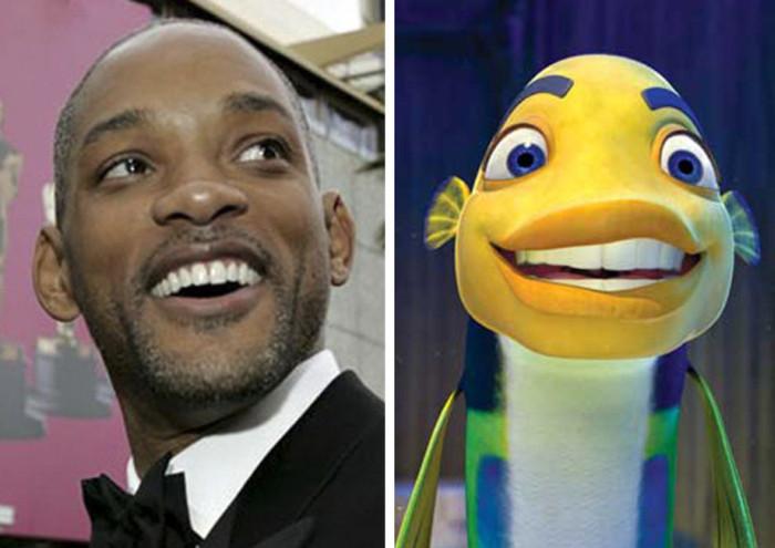 Актеры, которые сильно похожи на своих героев из мультфильмов (20 фото)