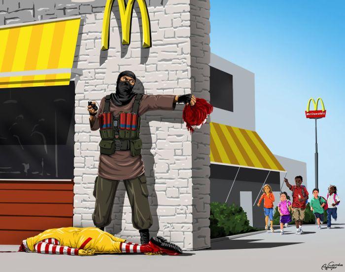 «Война и мир» - новый проект художника Гюндуза Агаева (8 рисунков)