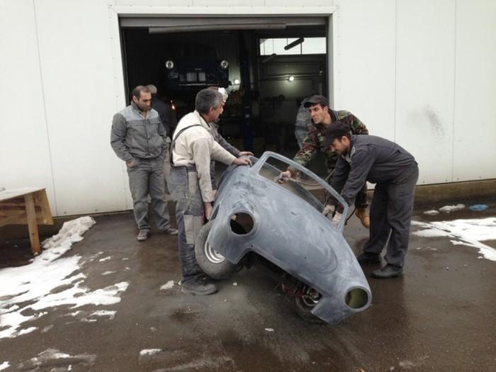Миниатюрный родстер ГАЗ-21 (74 фото)