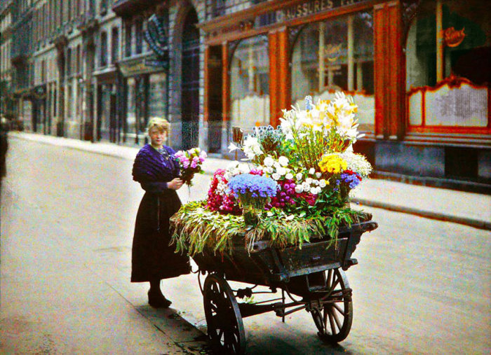Редкие цветные снимки Парижа 100-летней давности (55 фото)