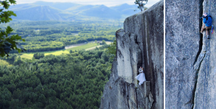 Экстремальный фотосет на горном уступе (12 фото)