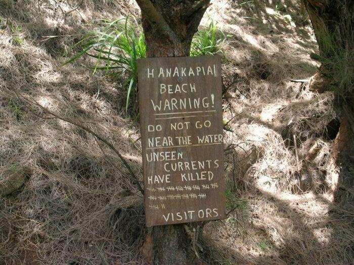 Гавайский пляж Hanakapiai Beach - один из самых опасных пляжей в мире (фото + видео)