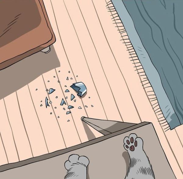 Мир глазами котов в забавных картинках (11 картинок)