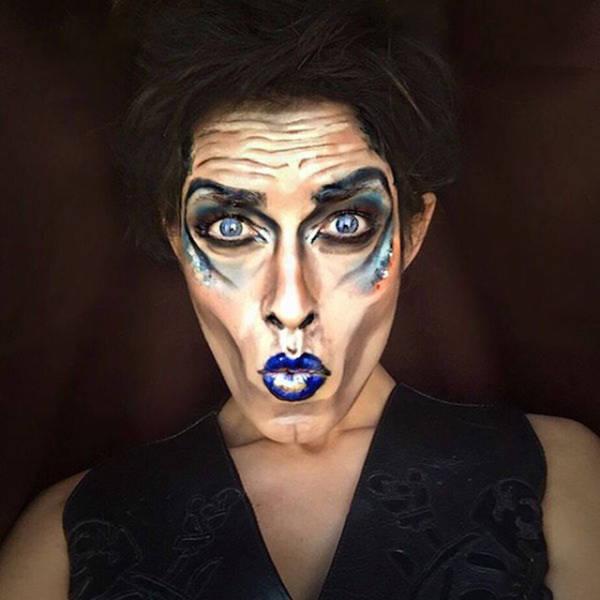Профессиональный визажист превращает себя в различных звезд при помощи макияжа (21 фото)