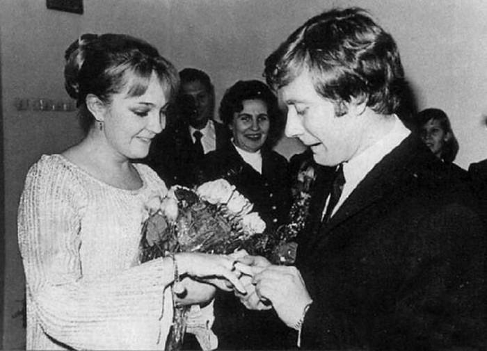 Свадебные снимки советских знаменитостей (6 фото)
