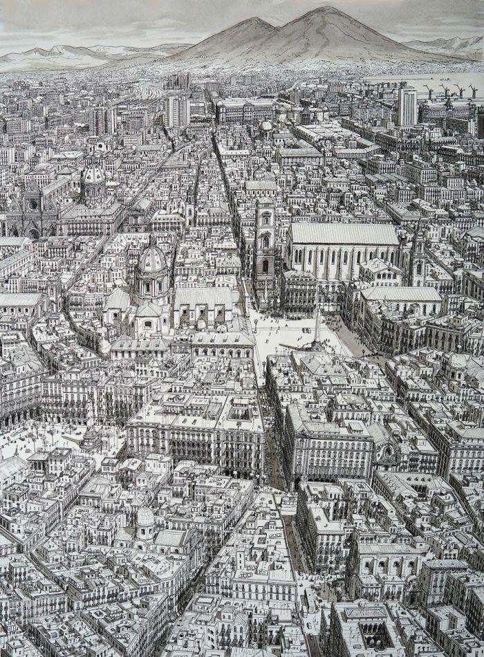 Рисунки городов по памяти от Стефана Бликроуда (14 фото)