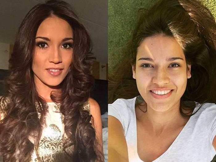 Очаровательные участницы конкурса красоты «Мисс Вселенная» с макияжем и без (10 фото)