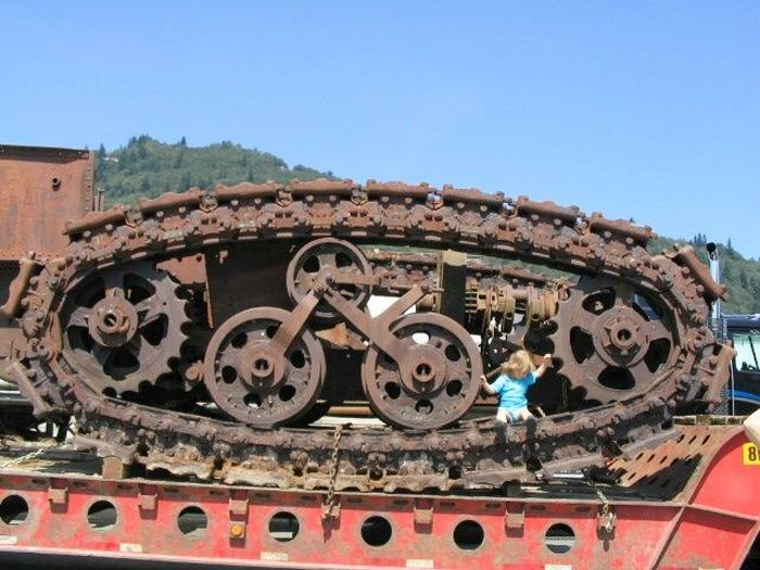 Паровой гусеничный трактор Хорнсби (10 фото)