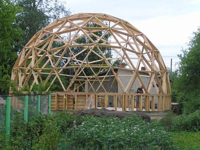Отчет о строительстве купольного дома (24 фото)