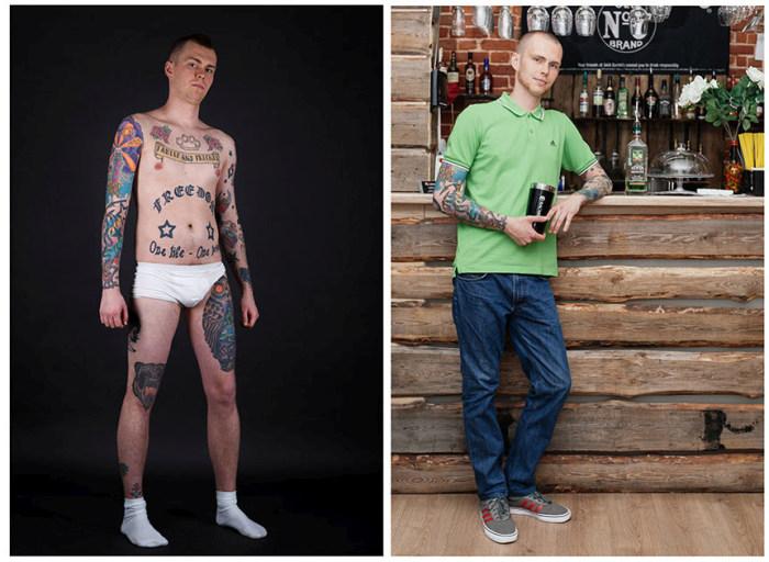 Российские фанаты татуировок (14 фото)