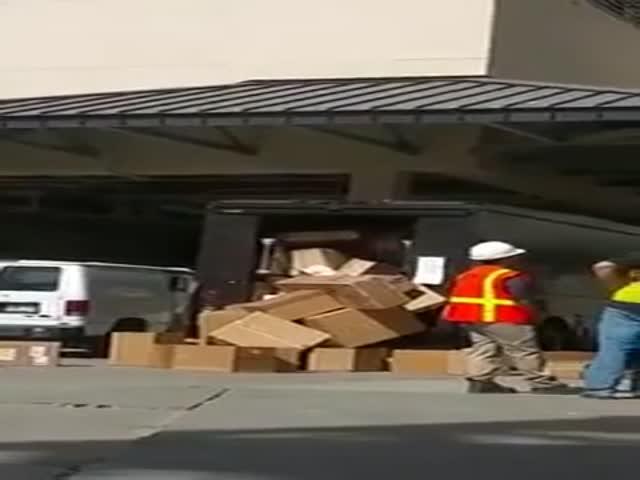 Разгрузка посылок
