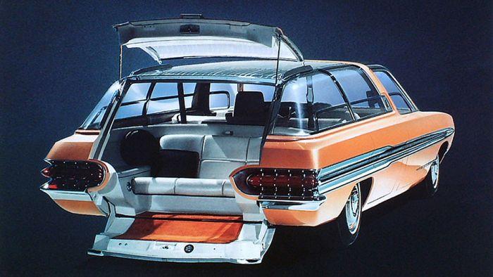 Ford Aurora - уникальный концепт 1964 года, оборудованный первой навигационной системой (3 фото)