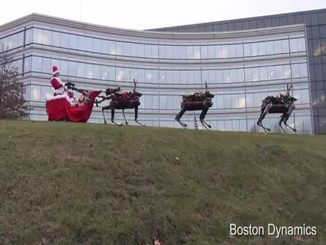 Рождественское поздравление от компании Boston Dynamics