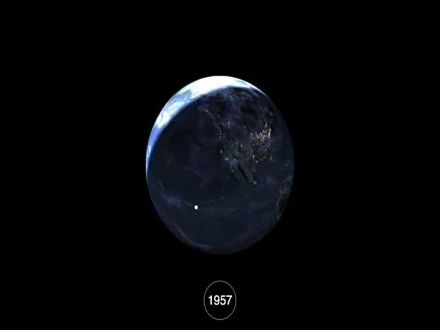 Как человек захламил орбиту Земли в течение 58 лет