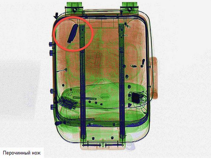 Журнал Wired предложил своим читателям найти запрещённые к провозу предметы на снимках просканированных чемоданов (16 фото)