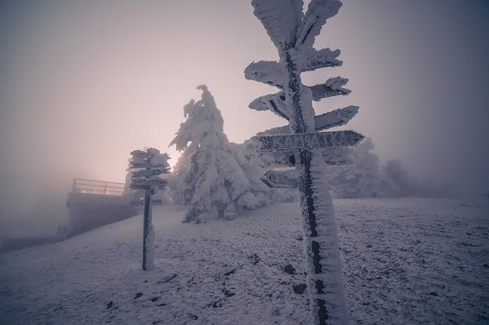 Зимние пейзажи Пятигорска (12 фото)