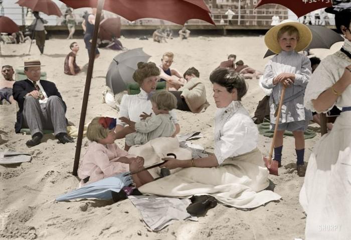 Колоризированные исторические снимки (41 фото)