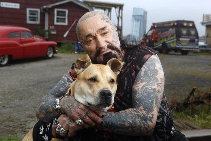 Добрые американские байкеры помогают животным (10 фото)