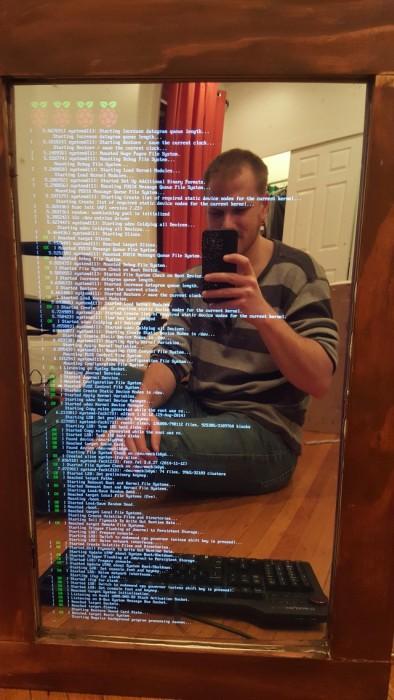 «Умное» зеркало своими руками (18 фото)